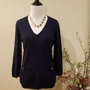 Ralph Lauren Pull Over V-neck Sweater Size Small